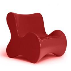 Poltrona de Butaca macia vermelho de empuxo