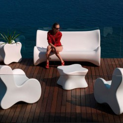 Soft Mesa Vondom white coffee Table