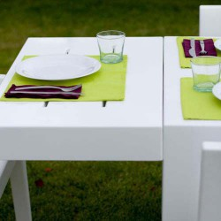 Jut Mesa 280 Table Rectangulaire Vondom Blanc
