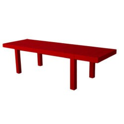 Jut Mesa 280 Table Rectangulaire Vondom Rouge