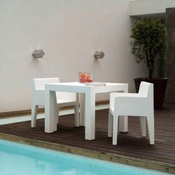 Jut Mesa 90 Table Haute Vondom Blanc