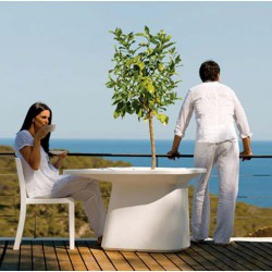 Moma Medium Table Jardiniere Vondom Blanc