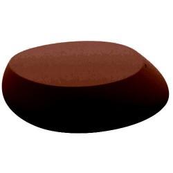 Mesa de Bronze de empuxo de pedra café