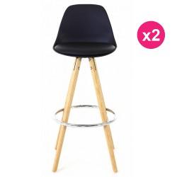 Set of 2 chairs work Black Oak KosyForm base Plan