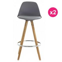 Set of 2 chairs Work Plan grey oak KosyForm base