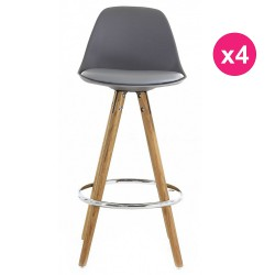 Set of 4 chairs Work Plan grey oak KosyForm base