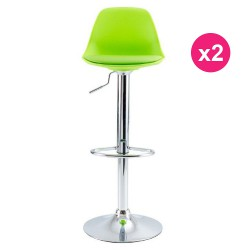 Set of 2 green KosyForm Bar stools