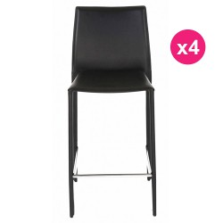 Set of 4 chairs black KosyForm work Plan