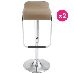 Lot de 2 Tabourets de Bar Taupe KosyForm