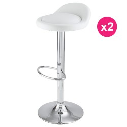 Set of 2 white KosyForm Bar stools