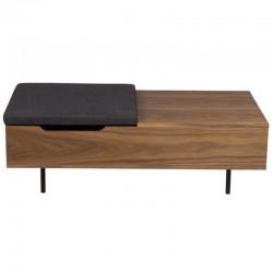 Table Basse Plaqué Noyer avec Coffre Intégré Isa KosyForm