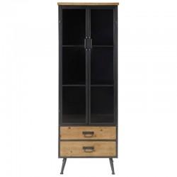 金属の黒と高 KosyForm パイン無垢材の家具トップ