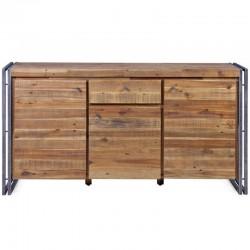 ビュッフェ式の木材や金属 3 ドア 1 引き出しメガ KosyForm