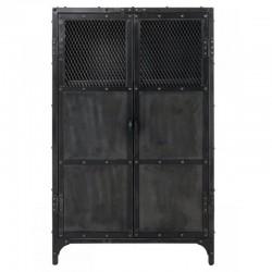 家具高い金属黒 2 ドアと 3 ニッチ ファリ KosyForm