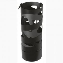 Serviteur Ruban Noir Givré-Gris Sablé avec Accessoires Noirs Dixneuf Design