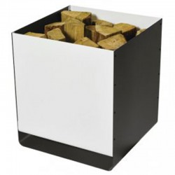 Artemis black white frosted Dixneuf Design wooden storage