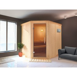 Sauna Vapeur Angulaire traditionnel Finlandais 2-4 places Ulla Prestige - VerySpas Selects