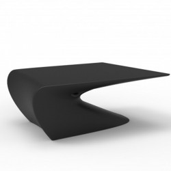 Low table design wing Vondom black Matt