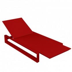 Transat Chaise Longue Frame Vondom Rouge Mat