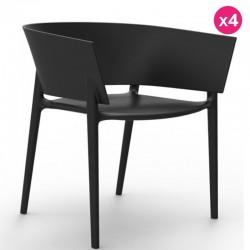 Набор из 4 стульев Vondom дизайн Африки черный