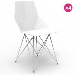 Набор из 4 стульев ваза Vondom ноги нержавеющей стали белый без подлокотники