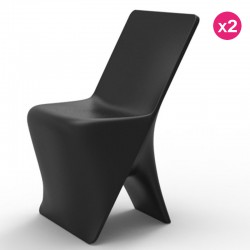 Lot de 2 Chaises Vondom Design Sloo Noir
