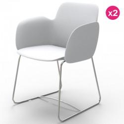 一套2把椅子冯多姆·佩泽蒂娜白色马特和金属