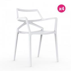 Set of 4 chairs Delta Vondom white