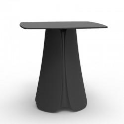 Design table Pezzettina Vondom anthracite 90x90xH72