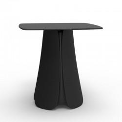 Design table Pezzettina Vondom black 80x80xH72