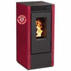 Granules stove Connected Economic Interstoves 10Kw with WiFi Marina Bordeaux