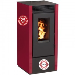 11Kw Etanche Interstoves Granule Stove with Marina Bordeaux Remote Control