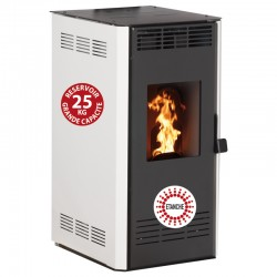 Granules Stove Connected Wifi Interstoves 14Kw Etanche Marina Blanc