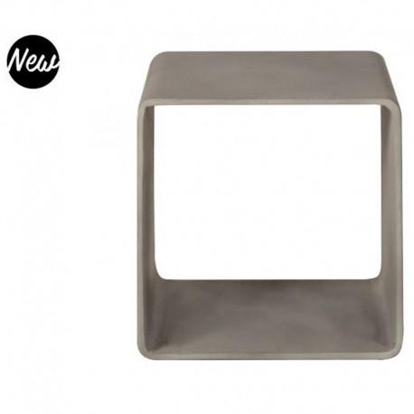 Cube de Rangement en Vernis Béton Gris Intense Hoi KosyForm