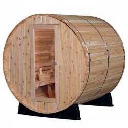 Sauna Extérieur Tonneau Senciotec à Vapeur Pinnacle avec Poêle 6 KwHarvia