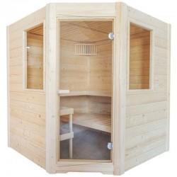 Sauna Vapeur Sentiotec Basic Corner avec Poêle 9kw