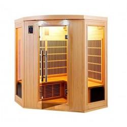 Sauna infrarouge Apollon Quartz 3 à 4 places France Sauna