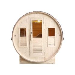 Sauna traditionnel d'extérieur Gaïa Bella 3 places France Sauna