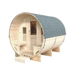 Sauna extérieur Gaïa Luna 6 places Holl's avec Poêle Harvia 8 kW