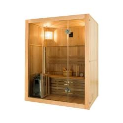 Sauna traditionnel Sense 3 places Pack complet avec Poêle Harvia 3,5 kW + pierres & accessoires