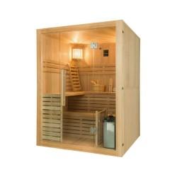 Sauna traditionnel Sense 4 places Pack complet avec Poêle Harvia 4,5 kW + pierres & accessoires