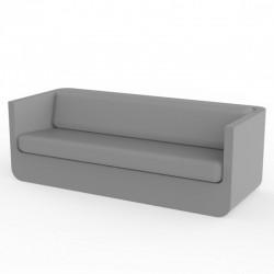 Canapé Vondom Ulm sofa avec coussins acier