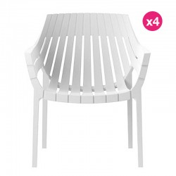 Lot de 4 fauteuils Vondom Spritz blanc