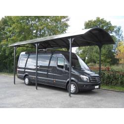 Carport Camping-car L7,60xH3,60m en aluminium et polycarbonate Anti-UV Habrita