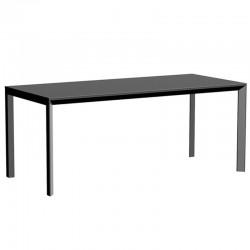Table Frame Aluminium Vondom 180x80xH74 noir