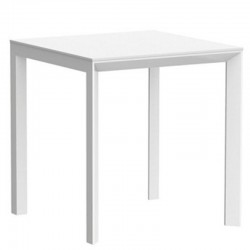 Table carré Frame Aluminium Vondom 70x70xH74 blanc