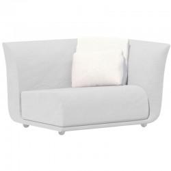 Canapé Sofa Vondom design Suave gauche en tissu déperlant blanc Snow 1041