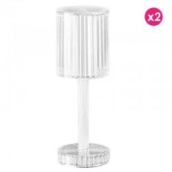 Lot de 2 Lampes Gatsby Cilindro Cristal sans fil Vondom Led