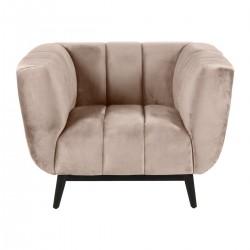 Beige velvet armchair Marao KosyForm