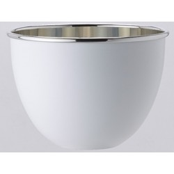 BOwl is a bowl white polished Tin OA1710 champagne